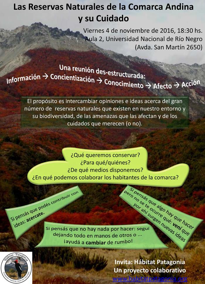 Evento: Las Reservas Naturales de la Comarca Andina y su Cuidado